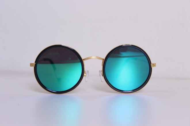 black framed hippie sunglasses