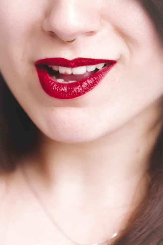 woman s lip